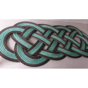 RRGDS3612-Rope-Rug-Green-with-Double-Brown-Accent-36x12