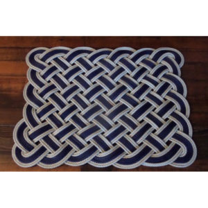 Rope Rug Navy with Gold or Silver accent