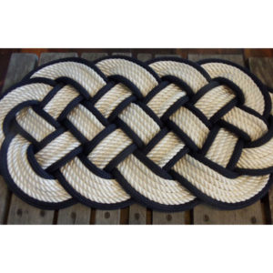 RRWN3012-White-with-Navy-Accent-Rug-30x12
