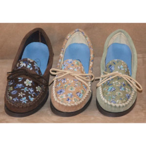 Womens-Flowered-Leather-Shoes