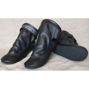 Women's-Teepee-Boots-with-Rubber-Soles-Black