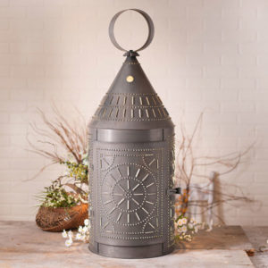 36-Inch-Tinner's-Lantern-with-Chisel-in-Blackened-Tin