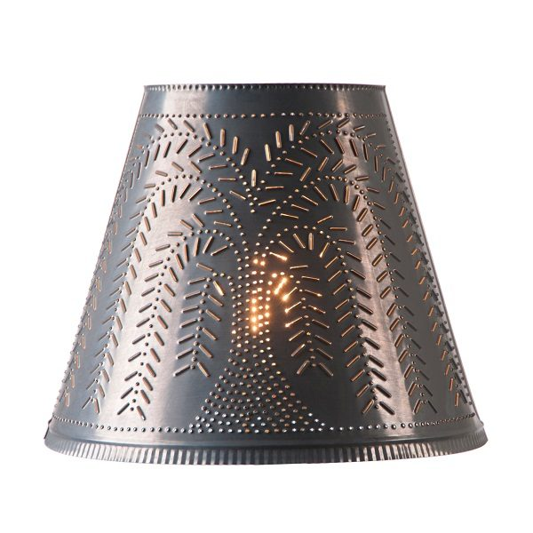 14-Inch Fireside Shade with Willow in Blackened Tin