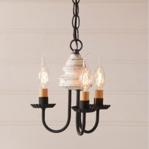Bellview Wood Chandelier in Americana White