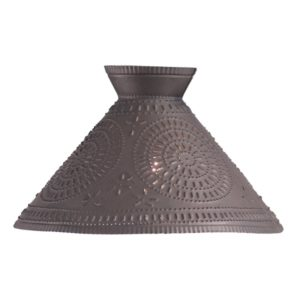 Betsy Ross Shade with Chisel in Blackened Tin