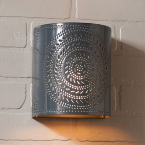 Chisel Sconce Light in Country Tin