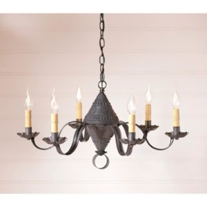Concord Chandelier in Blackened Tin