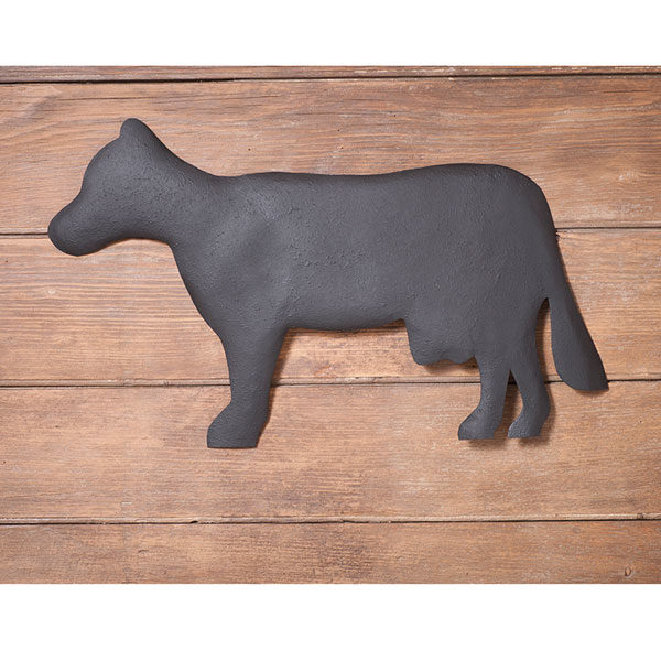 Cow-Wall-Hanger-in-Textured-Black-Product-Code-W14-55