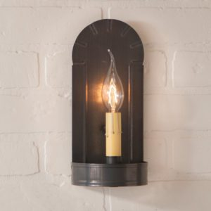 Fireplace Sconce in Blackened Tin