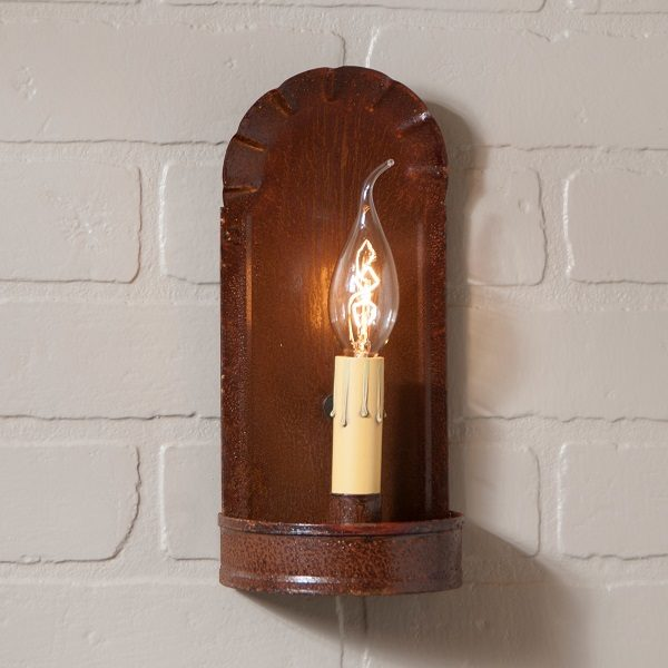 Fireplace Sconce in Rustic Tin