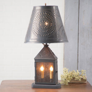 Harbor-Lamp-with-Chisel-Shade-in-Blackened-Tin