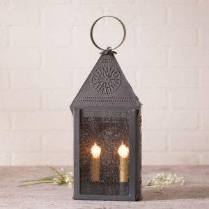 Hospitality-Lantern-with-Chisel-in-Blackened-Tin