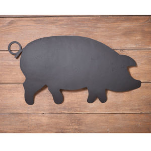 Pig-Wall-Hanger-in-Textured-Black