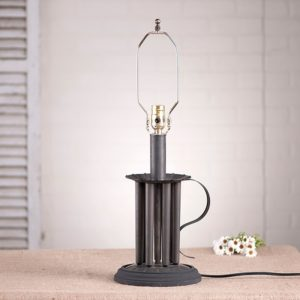 Round Seven-Candle Mold Lamp Base in Blackened Tin