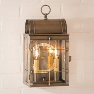 Toll House Wall Lantern in Weathered Brass