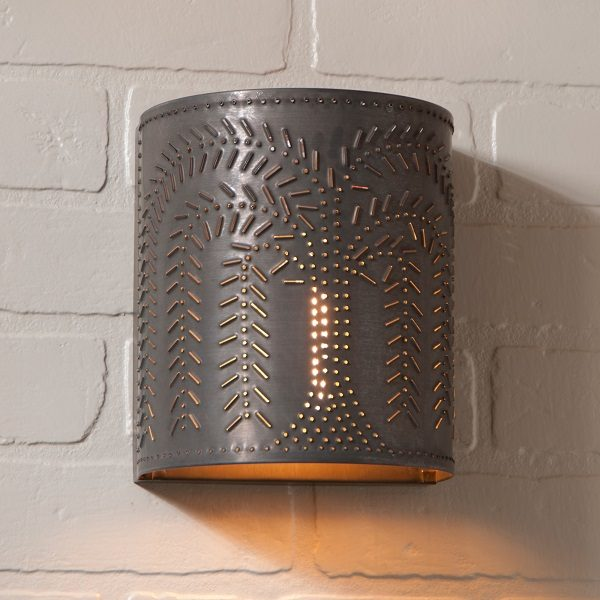 Willow Sconce Light in Blackened Tin
