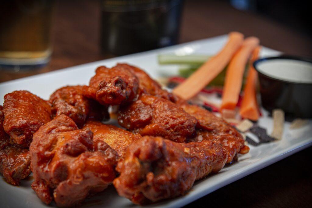 wings, chicken wings, food