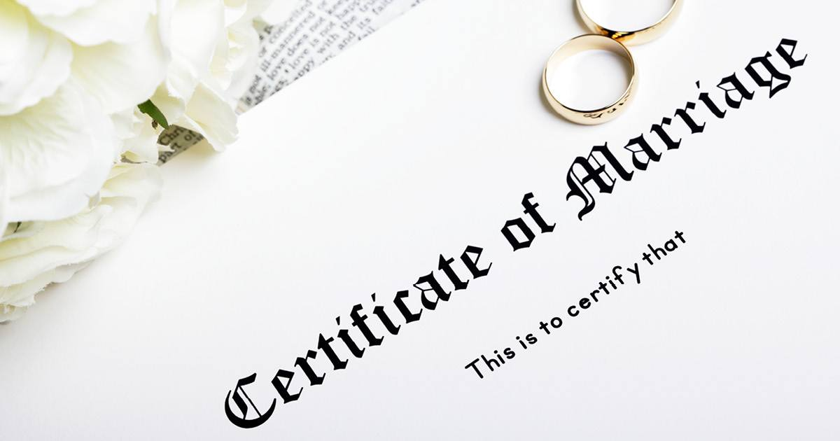 las vegas certified marriage certificate