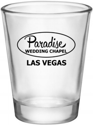 Paradise Shot Glass for las vegas wedding chapels