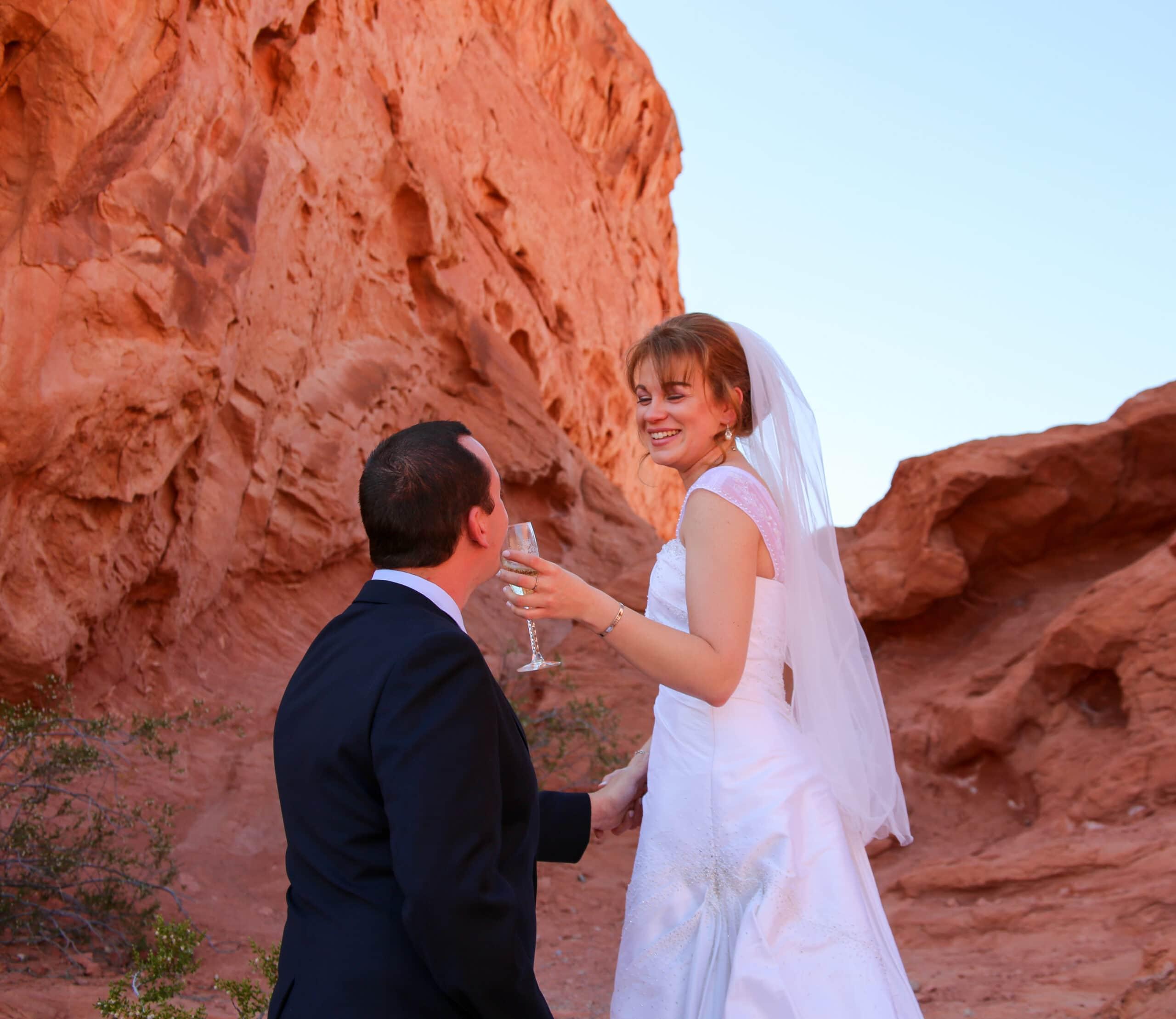 las vegas wedding valley of fire