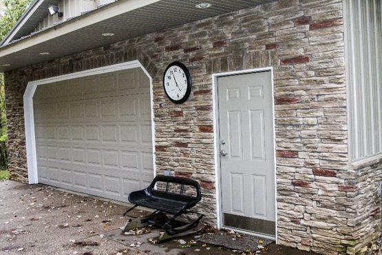 A garage area