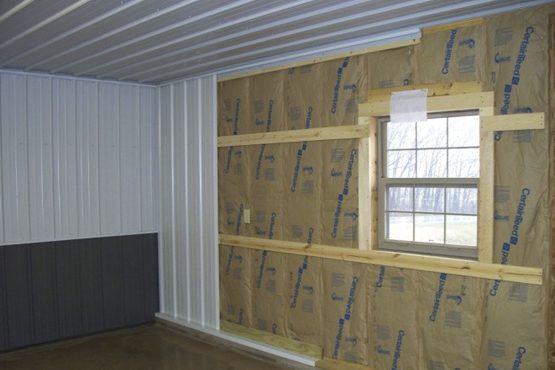 A building interior under construction