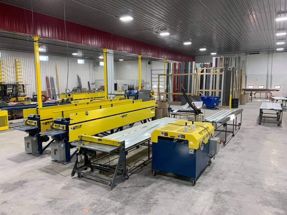 Yellow and blue machines