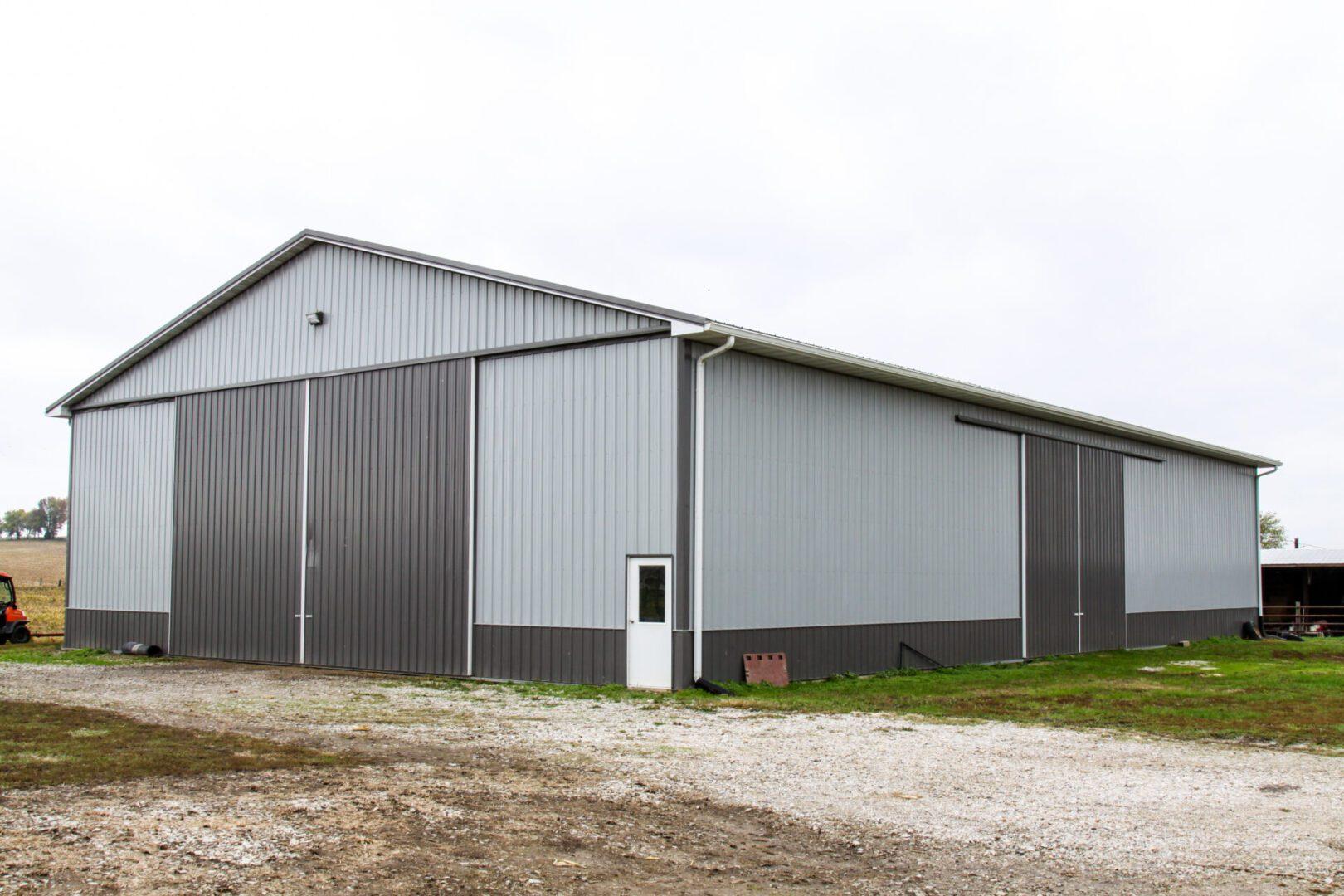 A steel barn