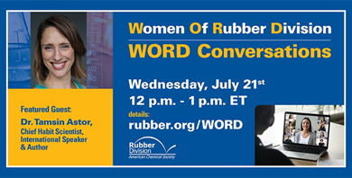 The Rubber Division adds another WORD Conversation featuring Dr. Tamsin Astor