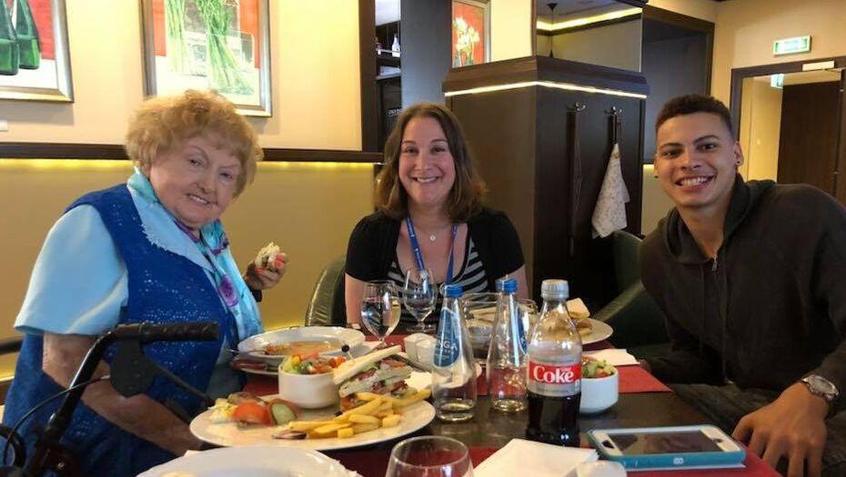 Eva Mozes Kor, MIMEH's Founding Director<br/> Stacy Gallin, Kellan Grady