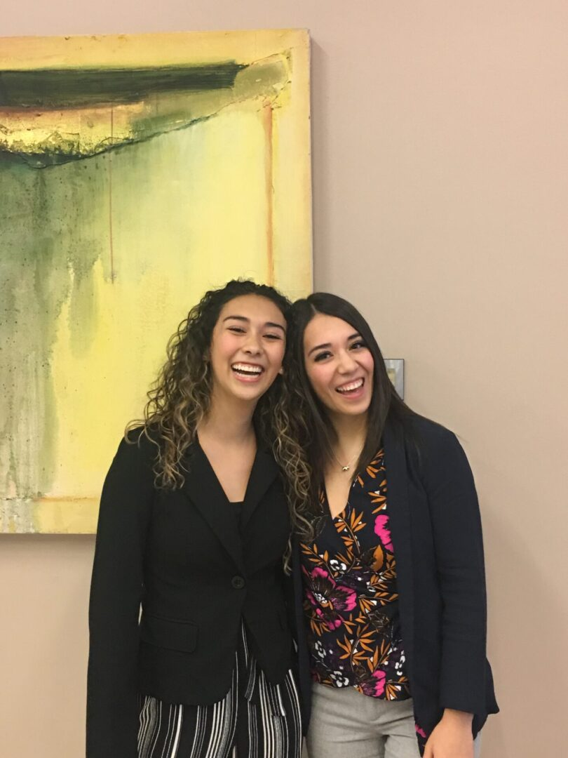 girls wearing formal blazers