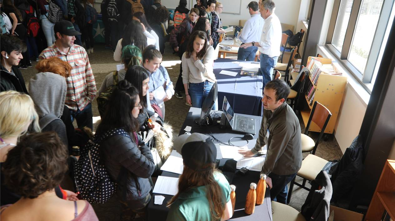 Guardian Scholars talk with students