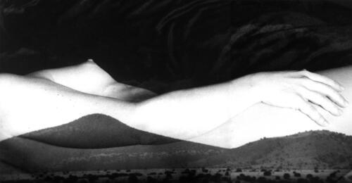 Mountain Nude, Albuquerque, black and white, silver gelatin print