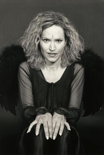 Goddess in Black, black and white, silver gelatin print