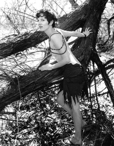 Diana-the Huntress-early 2000s, black and white, toned, silver gelatin print