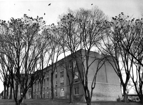 Memorial Hospital (now the Parq Central Hotel) Albuquerque - circa 1990s, black and white silver gelatin print