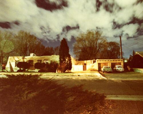 Night Photo of Ridgecrest Area House – Albuquerque – early 1980s, Color print