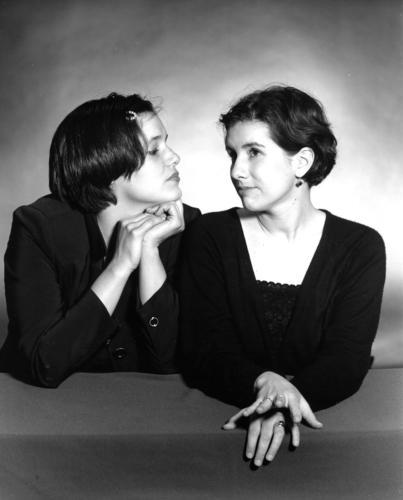 Two Friends, Albuquerque (black-and-white, silver-gelatin print)