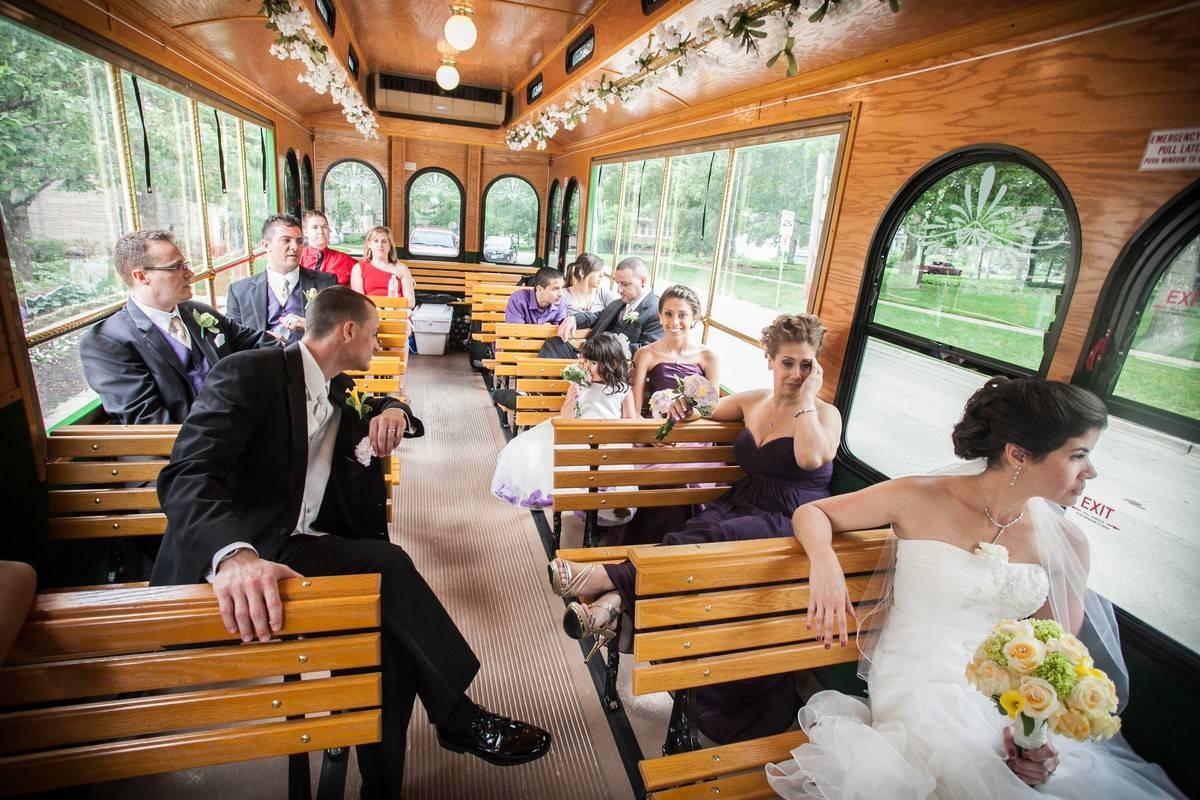 Chicago Wedding Trolley Rental