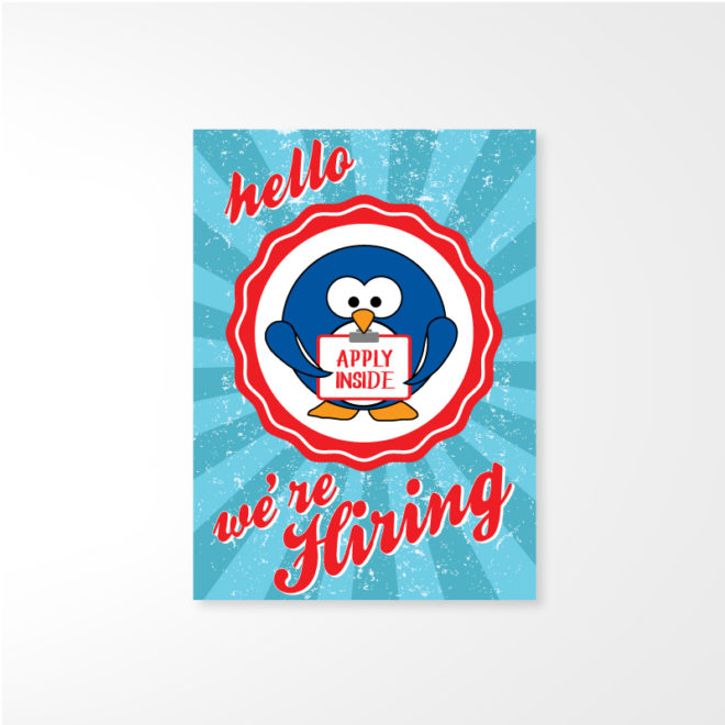 Whit's Now Hiring Poster