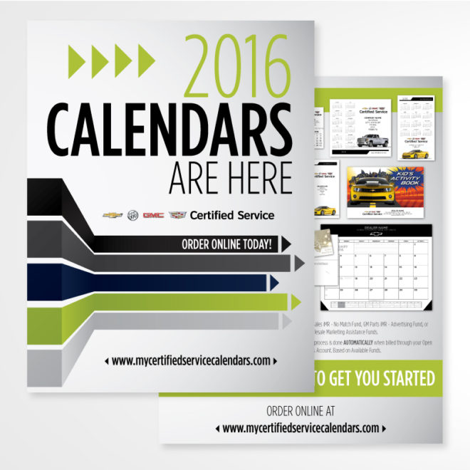 GM Calendar 2016 Brochure