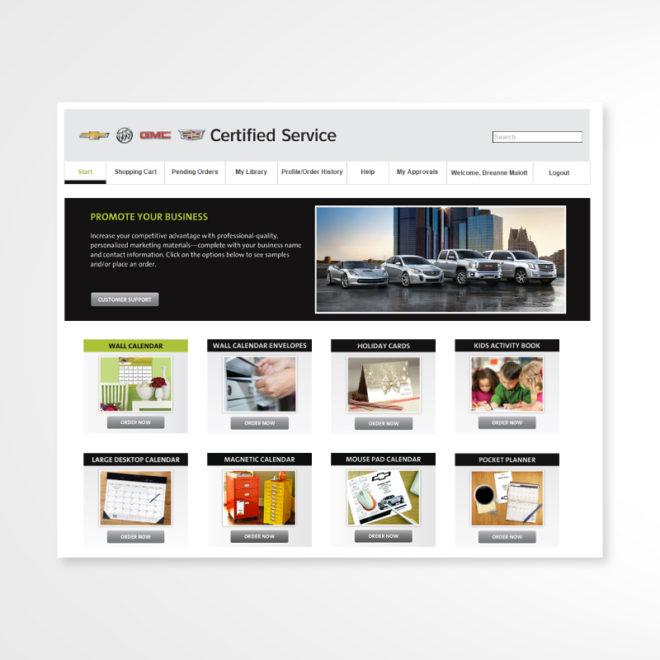 GM Website Homepage