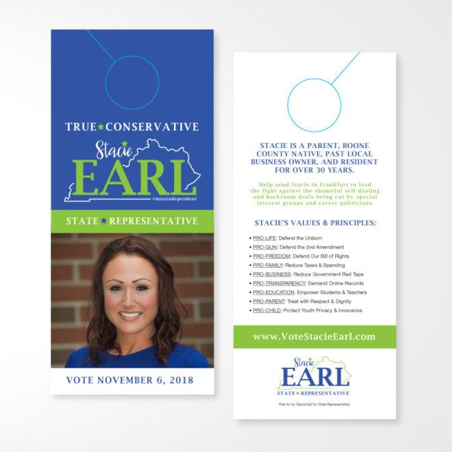 Vote Stacie Earl Door Hanger
