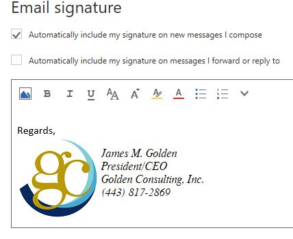 How to Setup a Signature in Office 365's Outlook Web App