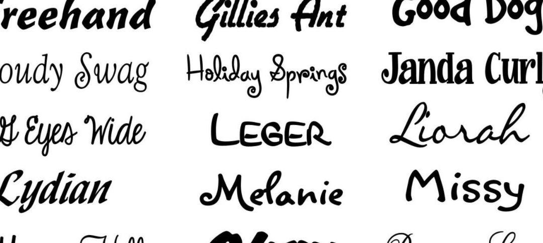 Adding New Fonts