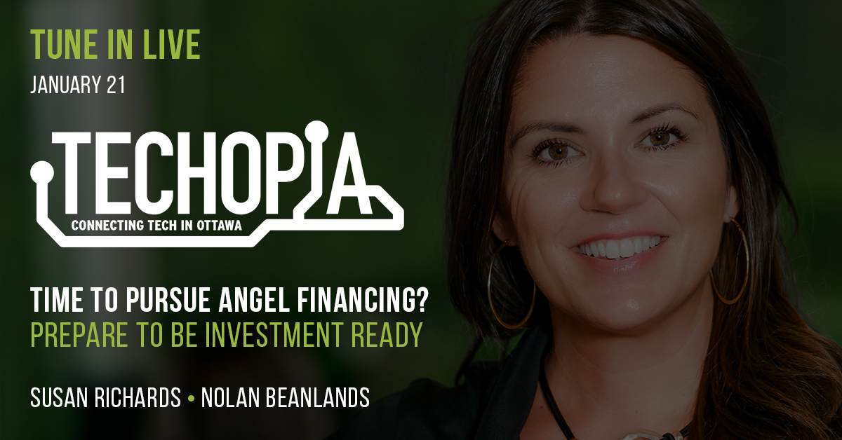 Susan Richards to Join Techopia Live to Discuss Being Investment Ready on January 21st