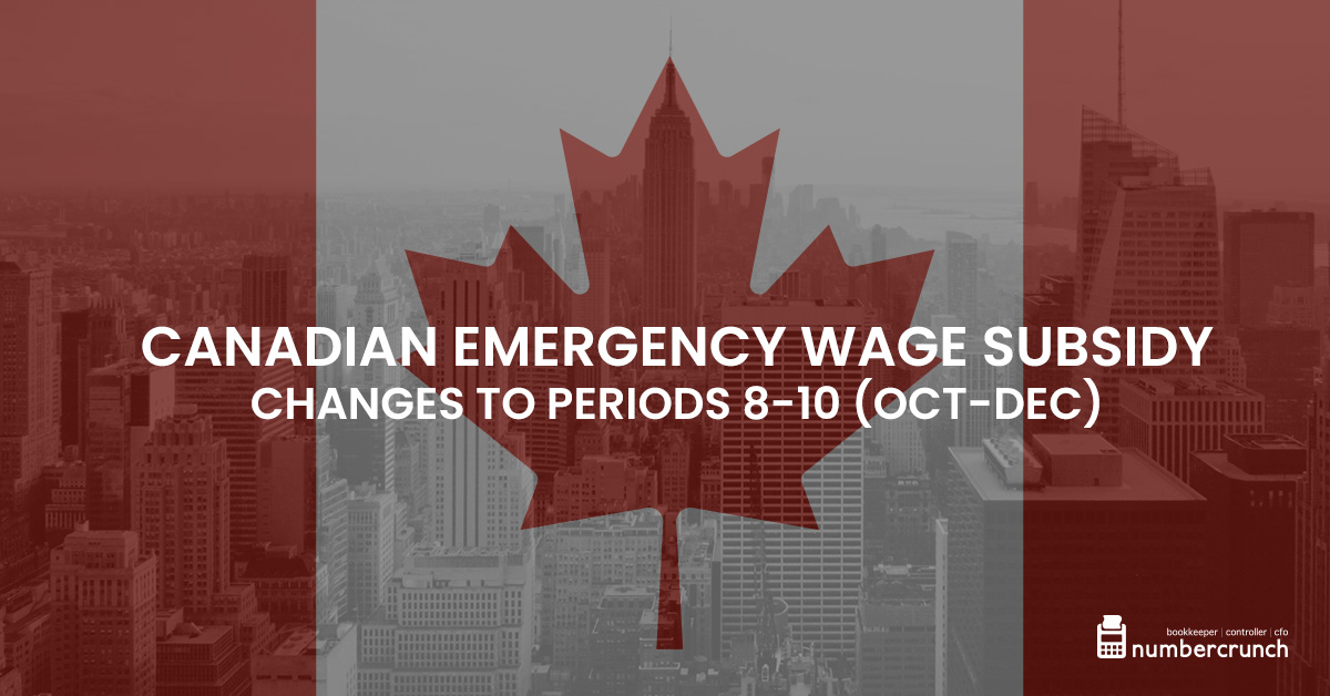 Canadian Emergency Wage Subsidy – New Changes Announced to Periods 8-10 (Oct-Dec)