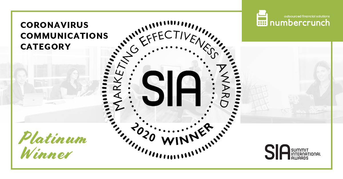 Coronavirus Communications Category Winner – Summit International Awards