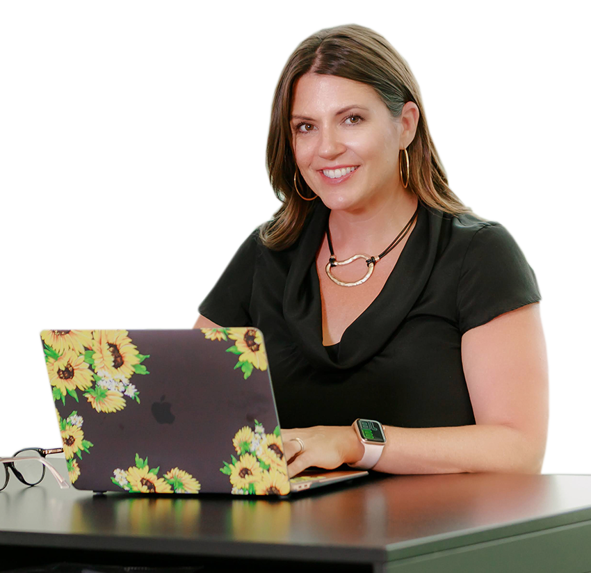 Susan Cut with laptop