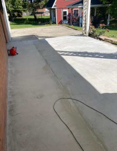 Image of the side carport before work is done